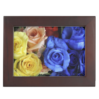 Assorted fresh rose bouquets memory box