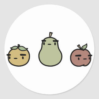 Assorted Fruit Stickers