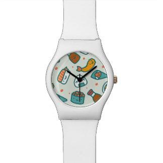 Assorted Kawaii Cute Japanese Sushi. Wristwatches