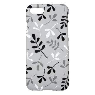 Assorted Leaves Monochrome Design iPhone 7 Case