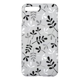 Assorted Leaves Monochrome Pattern iPhone 7 Plus Case