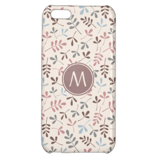 Assorted Leaves Pastel Cols Rpt Ptn (Personalized) iPhone 5C Cover