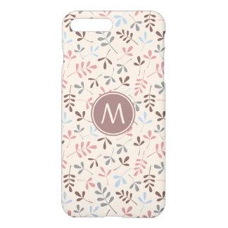 Assorted Leaves Pastel Cols Rpt Ptn (Personalized) iPhone 7 Plus Case