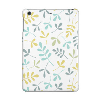 Assorted Leaves Pattern Color Mix on White iPad Mini Case