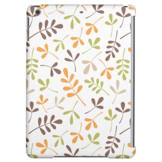 Assorted Leaves Ptn Brown Orange Green Sand White