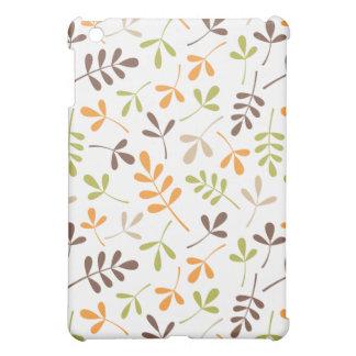 Assorted Leaves Ptn Brown Orange Green Sand White iPad Mini Covers