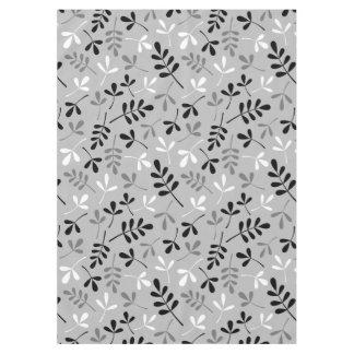 Assorted Leaves Rpt Ptn Monochrome Tablecloth
