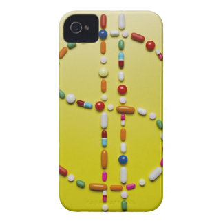 Assorted pills creating dollar symbol iPhone 4 case