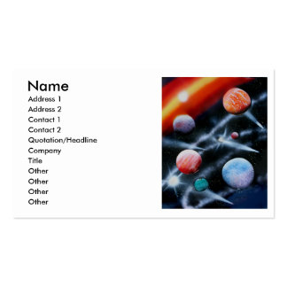 Assorted planets and star stripe space scene pack of standard business cards