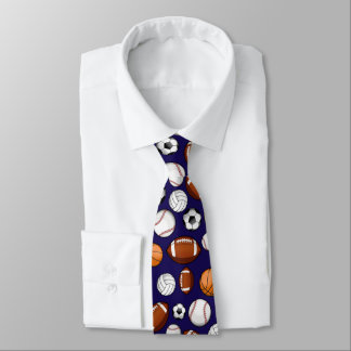 Assorted Sports All STAR Dark Blue Tie