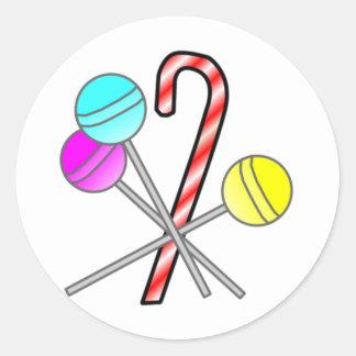 assorted sweets design round sticker