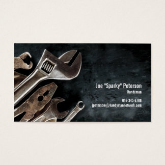 Assorted Tools Black Handyman Business Card