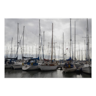 Assorted Yachts Poster