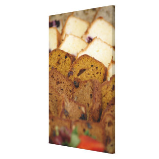 Assortment of Breakfast Breads and Cakes Canvas Prints
