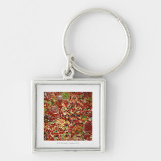 Assortment of candies key ring