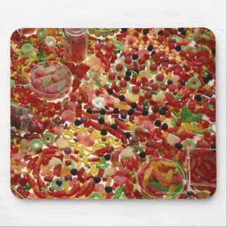 Assortment of candies mouse mat