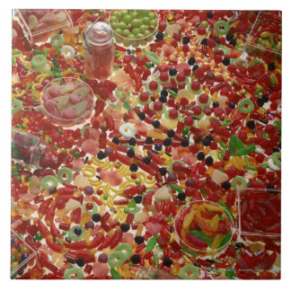 Assortment of candies tile