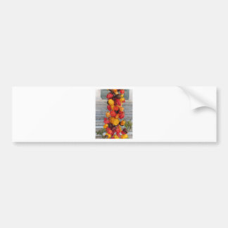Assortment of colorful chilli peppers bumper sticker