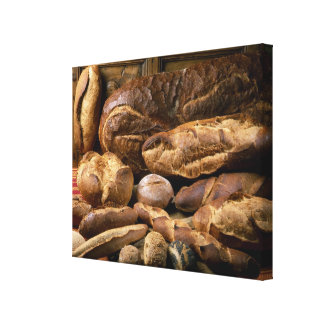 Assortment of country-style breads For use in Canvas Prints