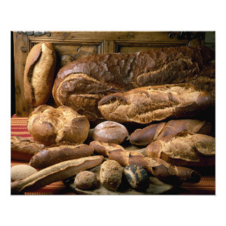 Assortment of country-style breads For use in Photographic Print