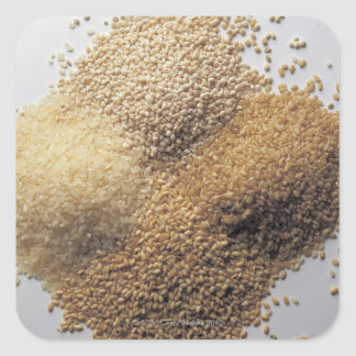 Assortment of grains square sticker