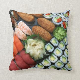 Assortment of Japanese sushi favorites Cushion