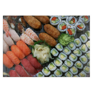 Assortment of Japanese sushi favorites Cutting Board