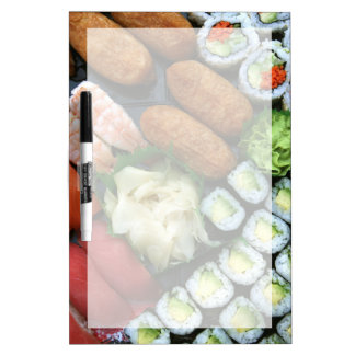 Assortment of Japanese sushi favorites Dry-Erase Whiteboard