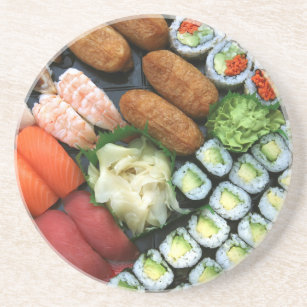 Assortment of Japanese sushi favourites Coaster