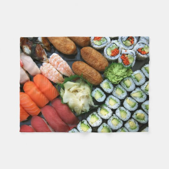 Assortment of Japanese sushi favourites Fleece Blanket
