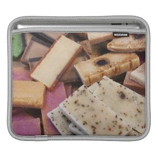 Assortment of organic handmade soaps iPad sleeve