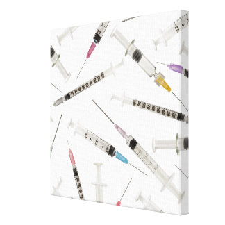Assortment of syringes in various sizes and canvas print