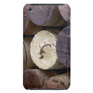 Assortment of used corks, macro. The corks have iPod Case-Mate Case