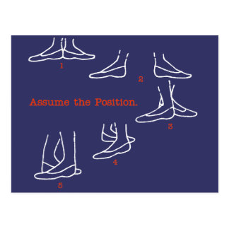 Assume the Position Ballet Gifts Postcard