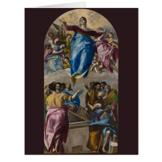 Assumption of the Virgin by El Greco Big Greeting Card