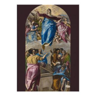 Assumption of the Virgin by El Greco Card