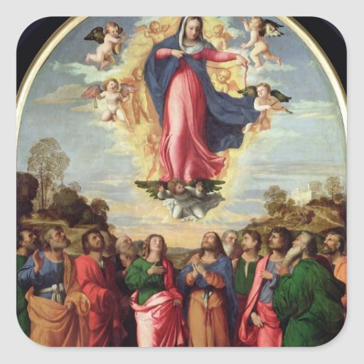 Assumption of the Virgin Square Stickers