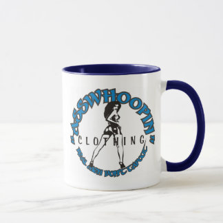 asswhoopin girl design glassware mug