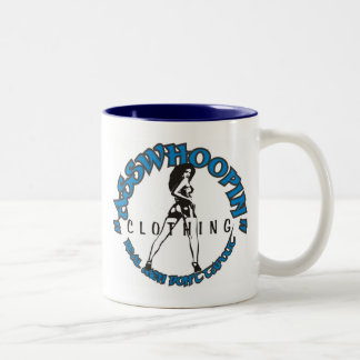asswhoopin girl design glassware Two-Tone coffee mug