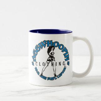 asswhoopin girl design glassware Two-Tone mug