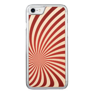Assymetrical maroon spiral carved iPhone 8/7 case