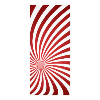 Assymetrical maroon spiral full color rack card