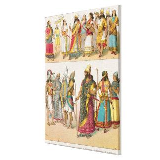 Assyrian Dress, from 'Trachten der Voelker', 1864 Canvas Print