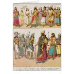 Assyrian Dress, from 'Trachten der Voelker', 1864 Greeting Card