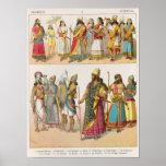 Assyrian Dress, from 'Trachten der Voelker', 1864 Poster
