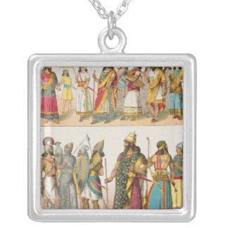 Assyrian Dress, from 'Trachten der Voelker', 1864 Silver Plated Necklace