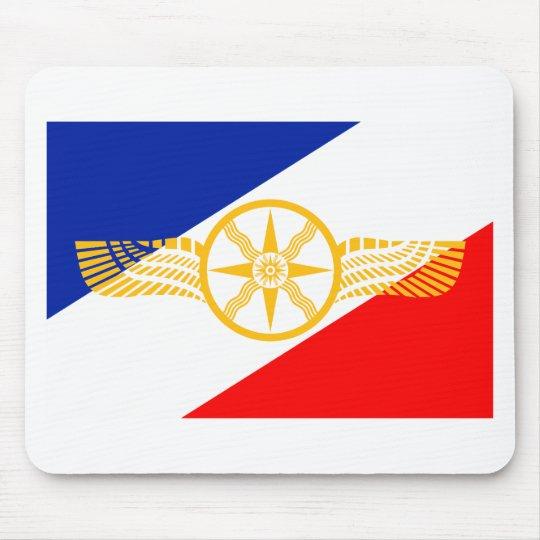 Assyrian Flag, Chaldean Flag, Syriac Flag (Union) Mouse Mat