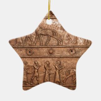 Assyrian Gate Ceramic Star Decoration