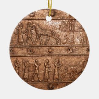 Assyrian Gate Round Ceramic Decoration