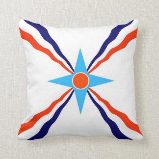 assyrian people ethnic flag cushion